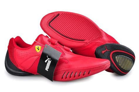 Puma Leather Ferrari Shoes Red   Men's Apparel   Puma