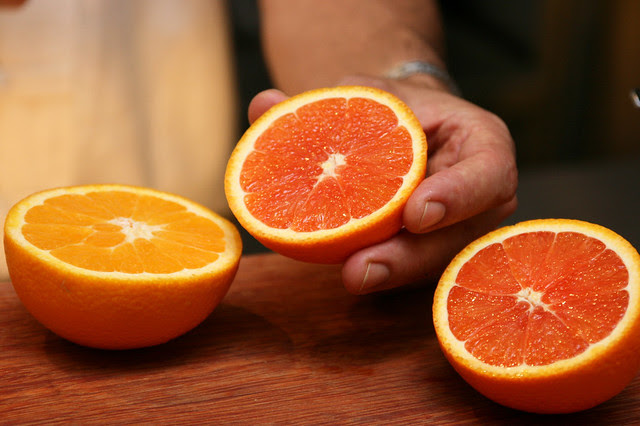 Cara Cara Oranges (middle and right) are so pretty and sweet