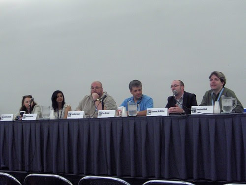 "The ""Meet the Press: Writing About Comics"" panel"