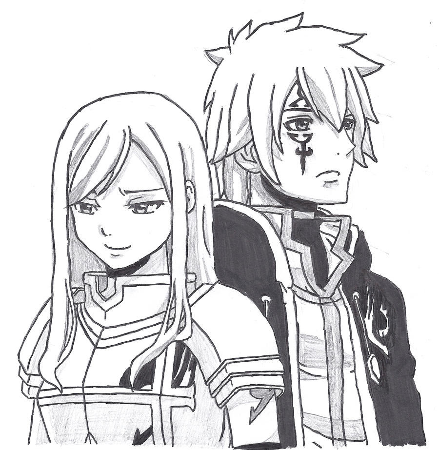 Erza and Jellal by davinoff on DeviantArt