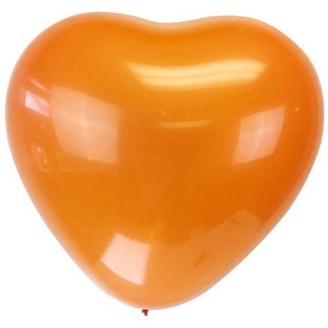 """Jumbo 24"""" Orange Heart Latex Balloon"""