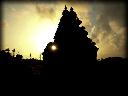 Shore Temple - Silhouette