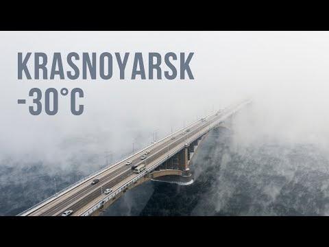 The Real Siberian Winter in Krasnoyarsk, A City Devided By Unfrozen Yenisei River