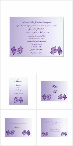 Purple Spring Floral Wedding