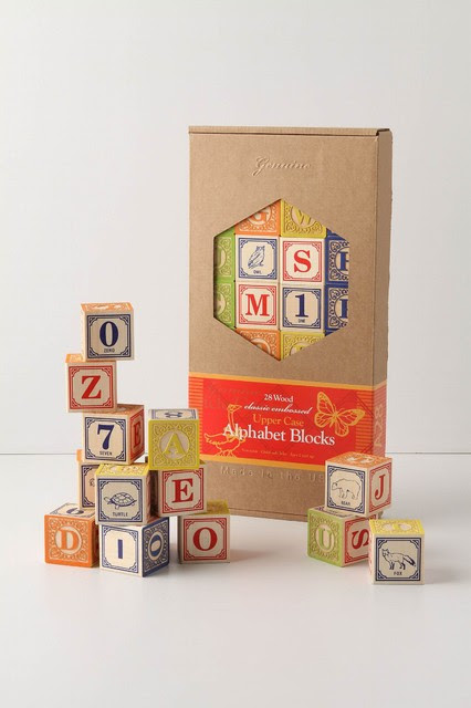 Alphabet Blocks - traditional - kids decor - - by Anthropologie