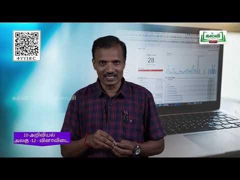 10th Science அலகு 12 தாவர உள்ளமைப்பியல் மற்றும் தாவர செயலியல் Kalvi TV
