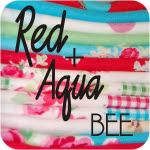 Red + Aqua Bee