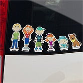 Personalized Family Car Decals - Window Stickers - 10702