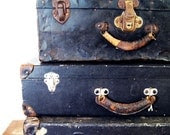 Antique Metal Suitcase