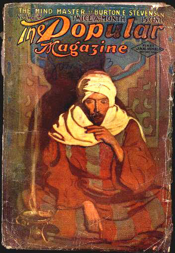 N.C. Wyeth cover for The Popular Magazine issue dated January 1, 1913, courtesy the FictionMags Index