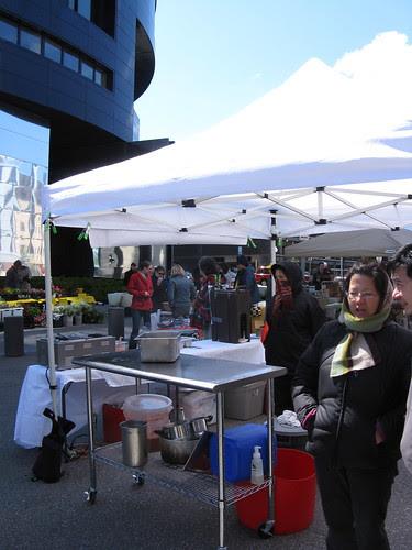 Cold market morning