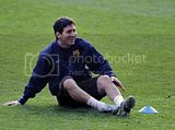 Pictures from FC Barcelona's Training Session at Stamford Bridge