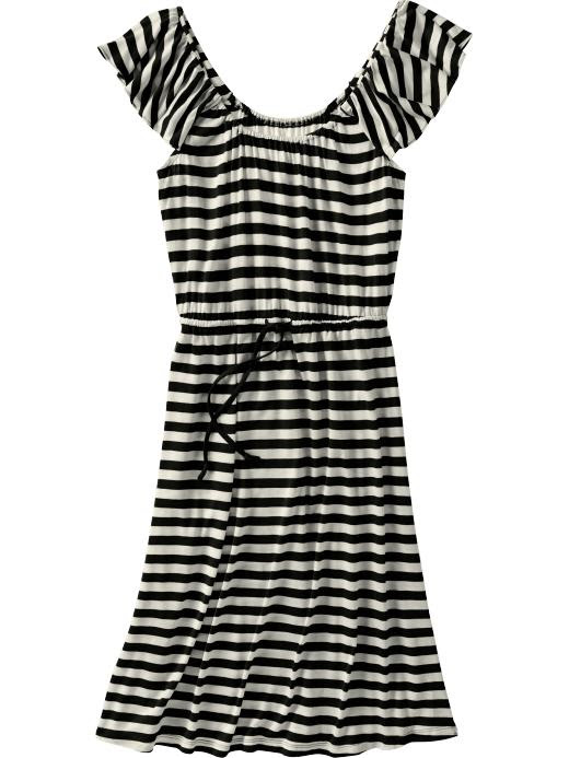 Old Navy Womens Tie-Front Flutter-Sleeve Dresses
