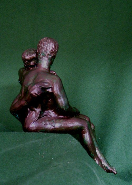 Male Lovers Sculpture