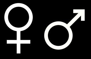 Female symbol. Created by Gustavb.