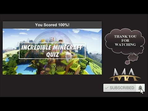Incredible minecraft quiz answers 100% score For you