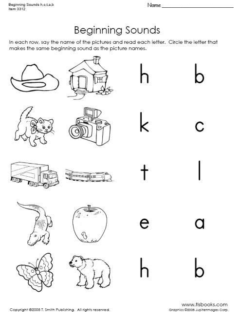 Preschool Letter Sounds Worksheets - Preschool Worksheet Gallery