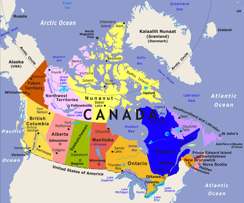 Map 0f Canada 25 Beautiful Map Of Canada Showing States