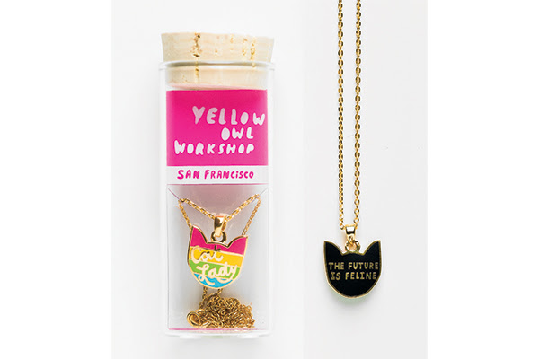 Cat Lady Double-Sided Pendant