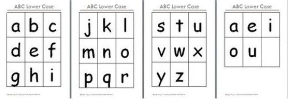 FREE Printable Alphabet Flash Cards | hubpages