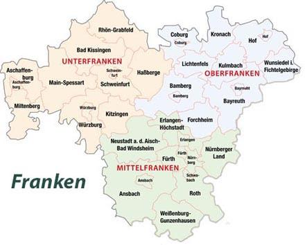 Region Heilbronn Franken Karte.Karte Franken Karte
