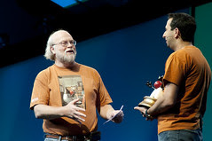 """Ari Zilka and James Gosling, General Session """"The Toy Show"""" on June 5, JavaOne 2009 San Francisco"""
