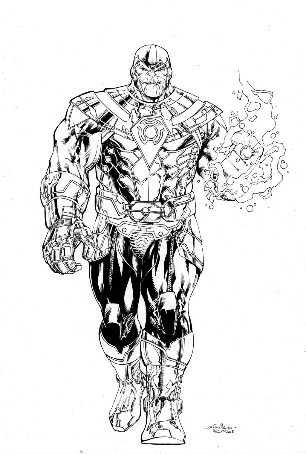 Thanos of Sinestro Corps by SpiderGuile on DeviantArt