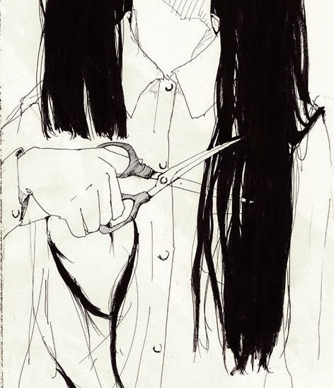 art ihairi igirli ianimei manga icuti scissors long ihairi black