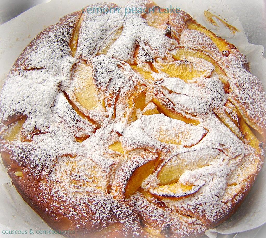 Peach & Lemon Cake, cropped & edited