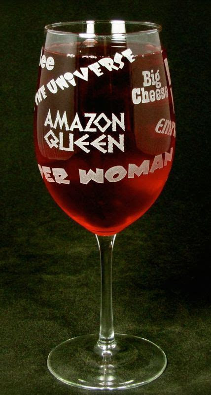Boss Lady Wine Glass, Gift for Woman, Boss, Wife or Mom