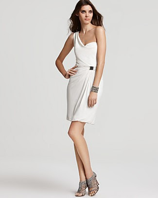 BCBGMAXAZRIA One-Shoulder Jersey Dress