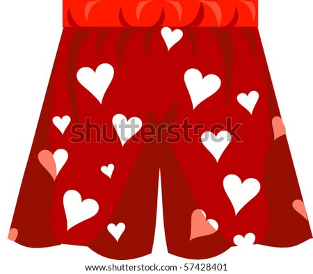 stock vector : Boxer Shorts Icon Vector for Valentine's day or love.