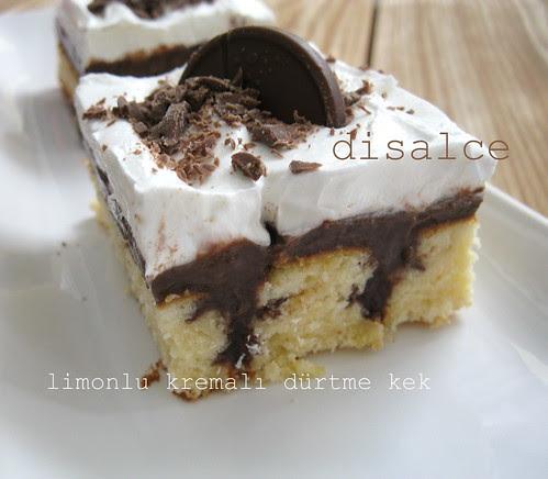limonlu kremalı dürtme kek