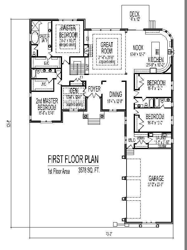 Layout 4 Bedroom 2 Storey House Plans 3d House Storey