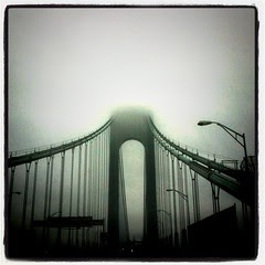 Verrazano Bridge Under Clouds