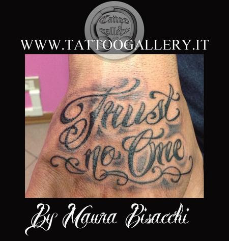 Trust No One Tattoo On Hand Search For Pictures
