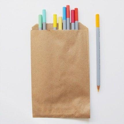 Kraft Paper Bags - Set of 10
