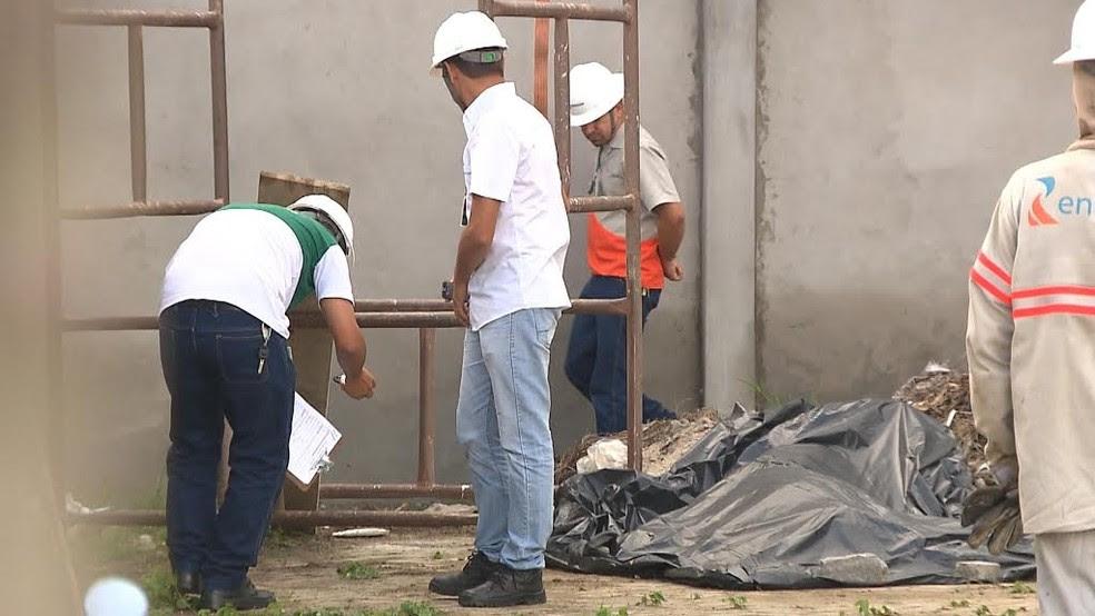 Soldador de 29 anos morreu e outros dois de 36 e 32 anos ficaram feridos depois de sofrerem um choque elétrico em uma, em Campina Grande (Foto: Reprodução/TV Cabo Branco)