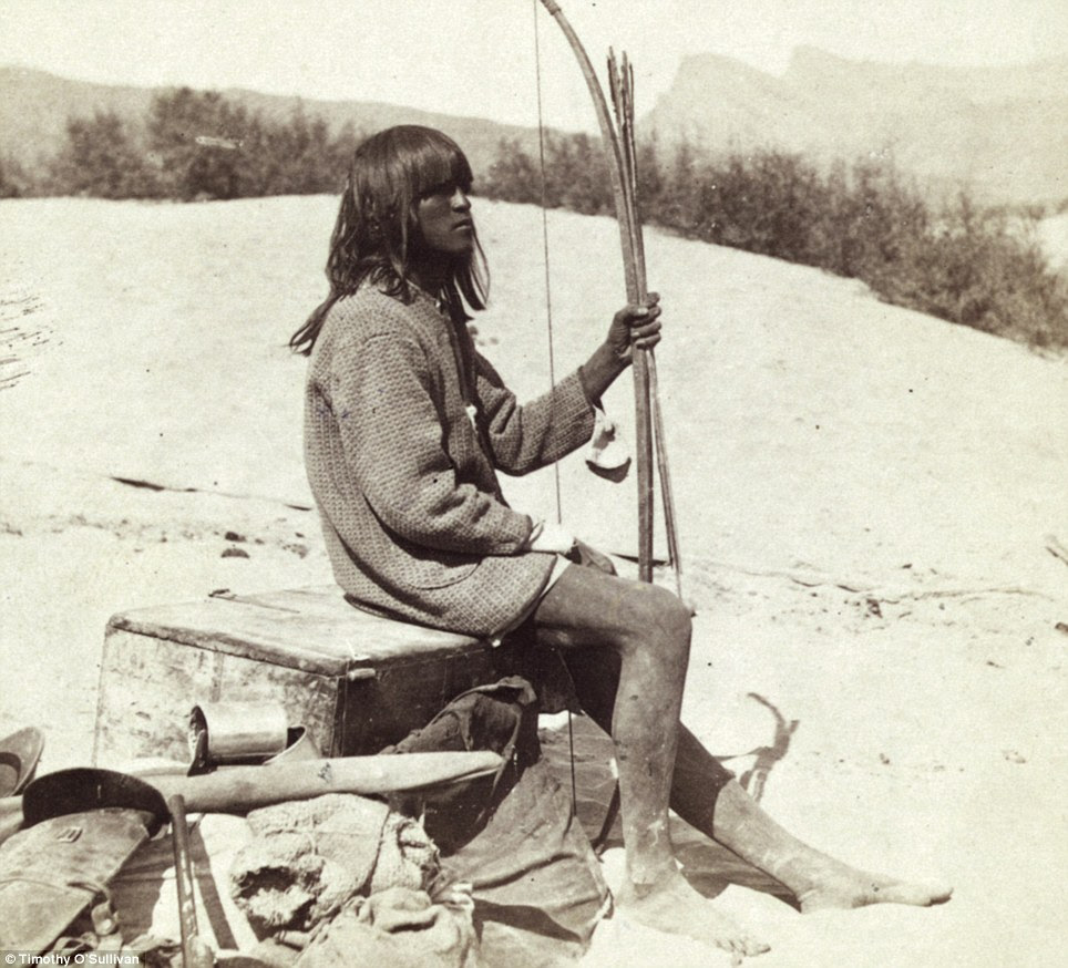 Native: Maiman, a Mojave Indian, guide and interpreter during a portion of the season in the Colorado country, in 1871