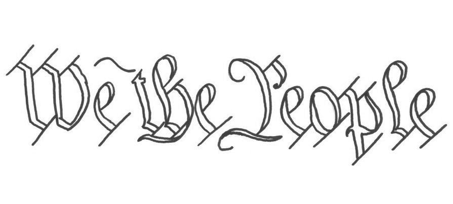 we the people coloring page