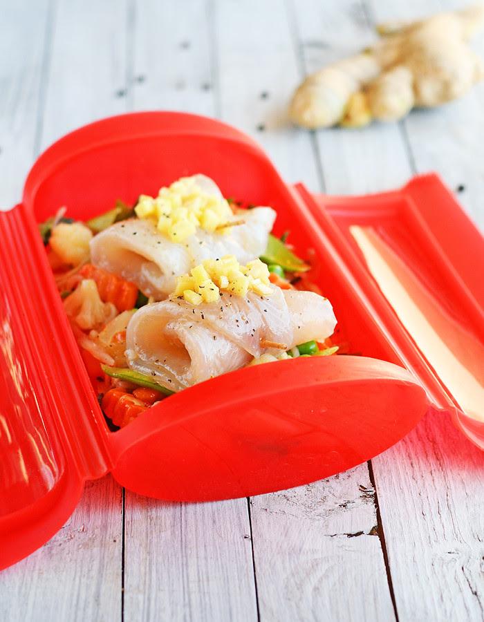 rollitos de pescado con verduras a la oriental_molde lékué