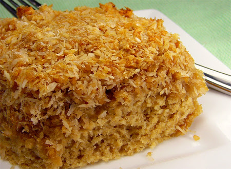 Coconut-apple cake
