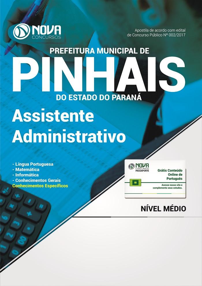 Apostila Prefeitura de Pinhais Auxiliar Administrativo (Impresso)