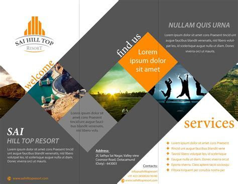 brochure design for Sai Hill Top Resort   Latest Portfolio