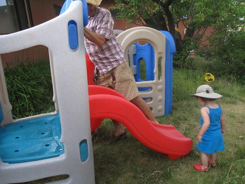 Moving the slide