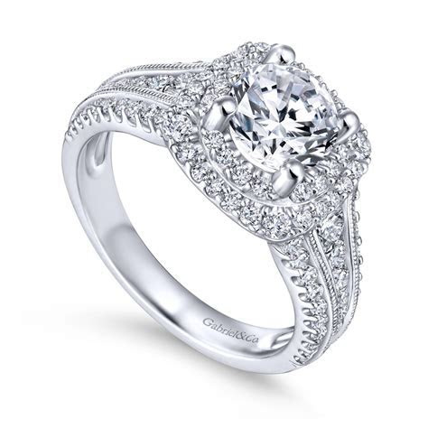 Gabriel & Co.   Henrietta Collection Double Halo Diamond