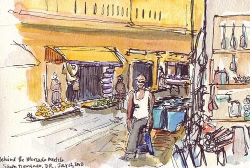 USK: Street behind Mercado Modelo, Santo Domingo, Dominican Republic