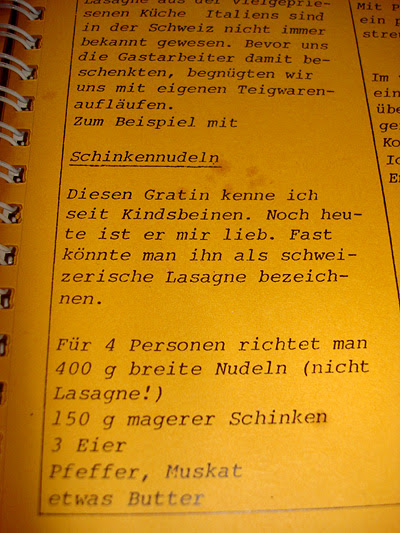 Rezept Schinkennudeln aus Kochbuch von Rita Lorenzetti Hess