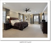 Awesome Bedroom Design With Dark Wood Furniture Photos