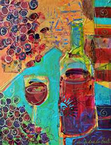 "Shiraz by Filomena Booth Acrylic ~ 14"" x 11"""